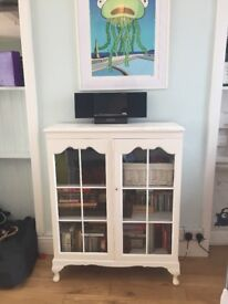 Lovely solid hardwood glass cabinet / cupboard painted in Annie Sloan chalk paint