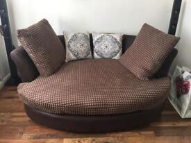 Brown sofa from dfs