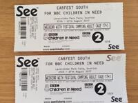 2 x CARFEST SOUTH WEEKEND WITH FESTIVAL CAMPING ADULT TICKETS