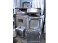 New & Used Stainless Steel Sinks Available , Good Condition To Re-Use. **STARTING AT ONLY £15**