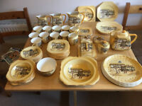 For sale a box of Crown Dresden Crockery