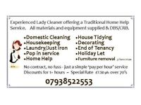 Domestic Cleaner and Home Help Service Kings Lynn - Hunstanton area