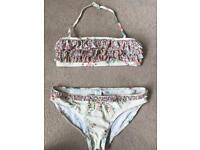 Next Girls Cream Floral 2 part Bikini set