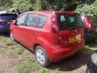 Nissan Note 2009 BREAKING FOR SPARES PARTS