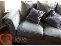 Sofas Cashmere Scatter Back 3 and 2 seater sofas NEW BOXED Free Delivery