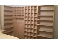 Ikea Billy bookcase units in birch veneer -various prices- will sell as a whole or seperatley