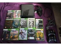 Xbox 360 250GB - 14 Games, 2 Controllers - Good Condition - Must go soon