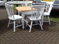 Farm house table and chairs