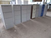 Filing Cabinets X 2, Four Drawer (No Keys) £10 Each, Blue Drawers and Brown one only left