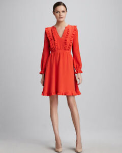 KATE SPADE RED RUFFLE DRESS
