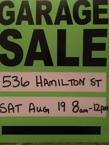 Garage Sale --536 Hamilton St