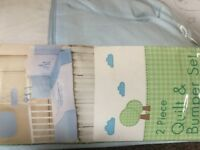 Luxury baby 2 piece quilt and bumper set jungle friends