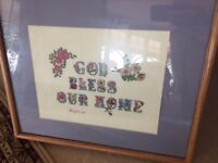 God Bless Our House original Needle Point