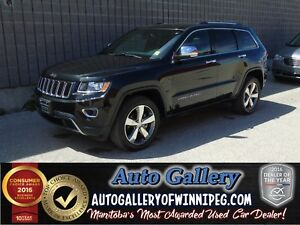 2016 Jeep Grand Cherokee Ltd 4x4 *Lthr/Nav