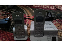 Philips twin cordless phone silver