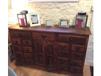 Apothecary cabinet, chest of drawers - solid wood, vintage piece
