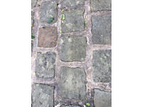 Cobble setts for paving & edging - reclaimed Yorkshire gritstone
