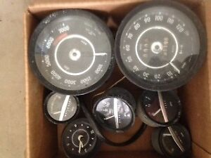 Volvo 1800E complete set of dash gauges