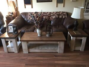 Custom coffee table with 2 End tables