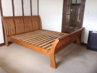 Super King size solid wood bed frame vgc only £75 Ono