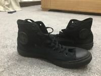 Men's converse size 9 high tops worn once