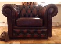 Stunning oxblood leather chesterfield club chair