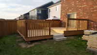 Deck installing and fencing