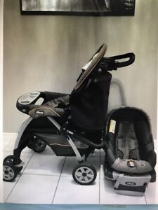 Chicco stroller with car seat.