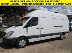2010 60 MERCEDES-BENZ SPRINTER 316CDI LWB SUPER HIGH ROOF MAXI. 163BHP. RARE VAN