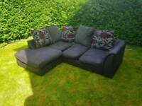 Black corner sofa (free delivery)