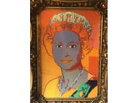 Amazing Large Retro Queen Elizabeth II Art Piece