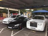 Wedding car hire London. luxury, prestige and supercars available for weddings, proms, VIP events