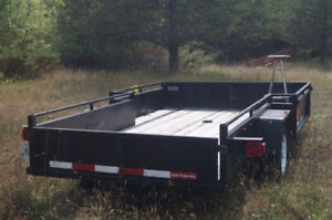 Trailer with rear and side ramp (great for landscaping staff )