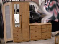 Matching set of wardrobe and chest of 6 drawers