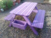 childrens kids picnic table