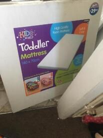 Cot bed / toddler bed brand new mattress