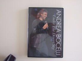 Andrea Bocelli – Under the Desert Sky - DVD As New