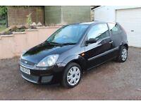 Ford Fiesta 1.25 petrol 3 door Hatch serviced + MOT Black 2008