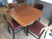 1960's vintage dining table and chairs