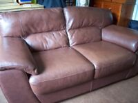 Quality brown leather sofa