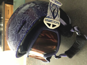 Girls Helmet with built in Goggles youth small