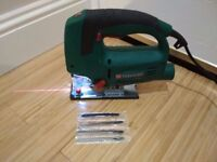 Parkside 800w Jigsaw with 4 blades LASER GUIDED! nearly new condition