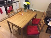 Table and 4 chairs, Antique stain - Perfect Condition! - IKEA JOKKMOKK Kitchen Table