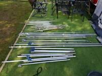 Mixed awning poles for caravan