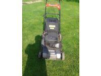 petrol lawnmower self propelled briggs stratton engine 19 inch cut with grassbox