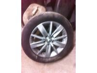 Mk6 vw golf x1 alloy with tyre