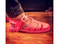 Pink Jelly Shoes - Size 8