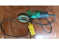 Hitachi 110v 115mm angle grinder for sale