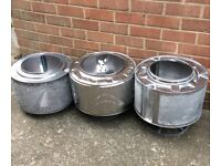 Garden or Camping Fire Pits made from upcycled washing machine drums