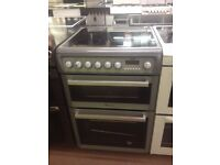 Silver Hotpoint Reconditioned 50cm Electric Cooker, Birmingham